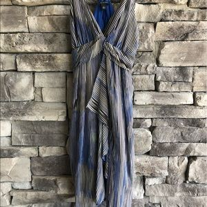 BANANA REPUBLIC / gathered front silk dress